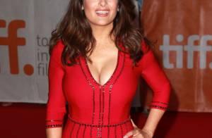 Salma Hayek : Robe moulante et décolleté généreux face à Penélope Cruz