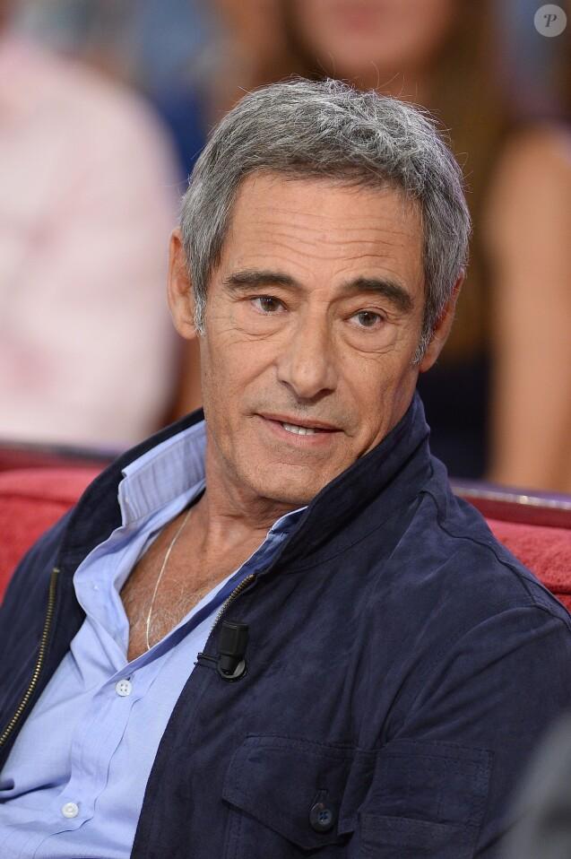 """Gérard Lanvin - Enregistrement de l'émission """"Vivement Dimanche"""" à Paris le 9 Septembre 2015 et qui sera diffusée le 13 Septembre 2015."""