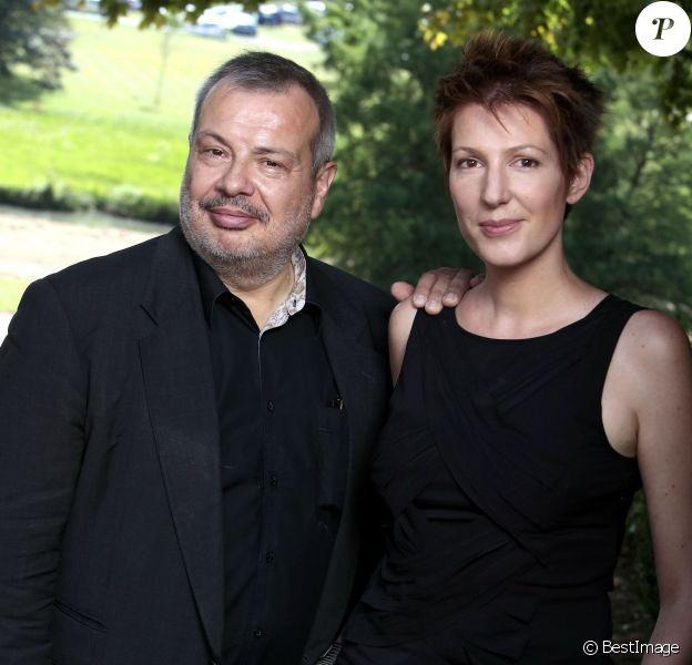 Portrait de Natacha Polony et son mari Périco Légasse. Août 2015.