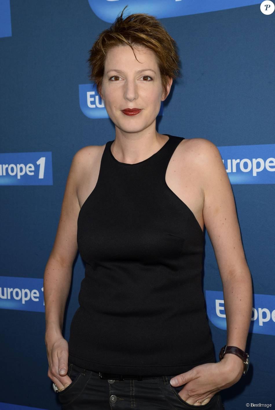 Natacha Polony - Conférence de rentrée de Europe 1 à Paris. Le 3 septembre 2014.