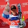 Didier Cuche après sa victoire en SuperG à Crans-Montana, le 24 février 2012 en Suisse