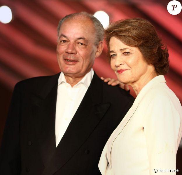 Charlotte Rampling et son compagnon Jean-Noël Tassez au 13e Festival International du Film de Marrakech, le 30 novembre 2013.