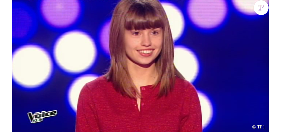 la jeune marine dans the voice kids saison 2 le vendredi 9 octobre 2015 sur tf1 purepeople. Black Bedroom Furniture Sets. Home Design Ideas