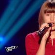 La jeune Marine, dans  The Voice Kids  saison 2, le vendredi 9 octobre 2015 sur TF1.