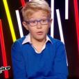 Le petit Ethan, dans  The Voice Kids  saison 2, le vendredi 9 octobre 2015 sur TF1.