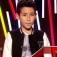 Le jeune Ferhat, dans  The Voice Kids  saison 2, le vendredi 9 octobre 2015 sur TF1.
