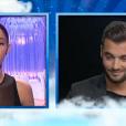 Coralie face à Loïc, dans l'hebdo de  Secret Story 9  sur TF1, le vendredi 9 octobre 2015.