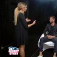 Loïc et Mélanie dans la salle du sursis, dans l'hebdo de  Secret Story 9  sur TF1, le vendredi 9 octobre 2015.