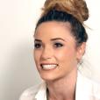 La jolie animatrice Capucine Anav en interview avec Purepeople, le 14 octobre 2015, chez NRJ12