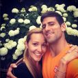 Novak Djokovic et son épouse Jelena - photo publiée le 10 juillet 2015