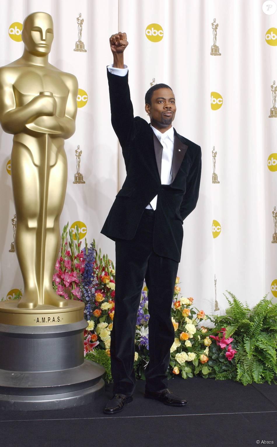 Chris Rock lors des Oscars 2005 qu'il animait pour la première fois.