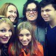 Rosie O'Donnell et ses enfants: Vivienne, Blake, Chelsea et Parker, le 8 février 2014.