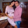 Jade Foret fête ses 25 ans avec son mari Arnaud Lagardère, le 26 septembre 2015.