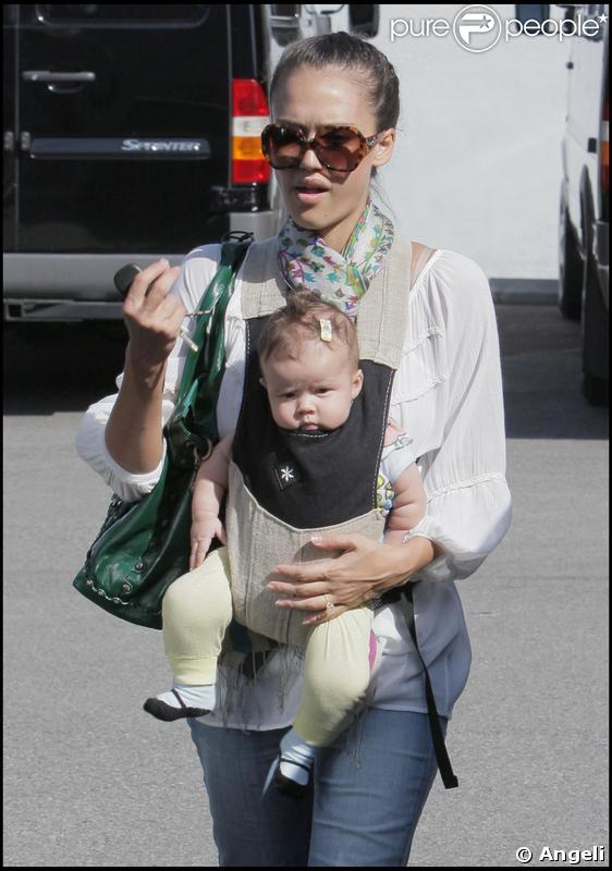 Jessica Alba et sa fille en balade à los Angeles