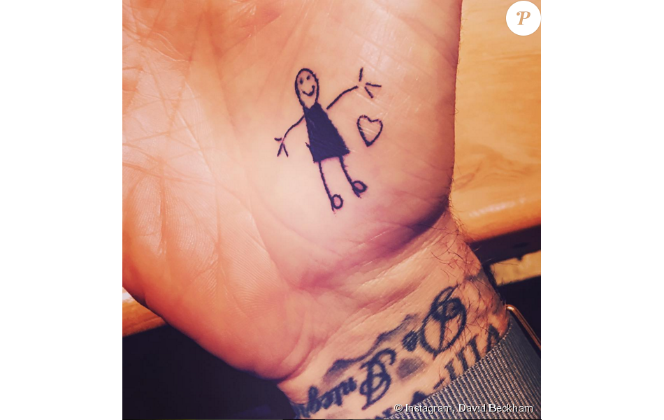 David Beckham L Adorable Tatouage Dessine Par Sa Fille Harper