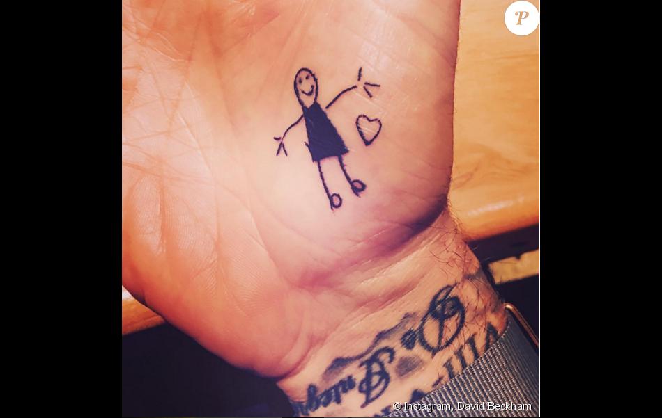 David Beckham L Adorable Tatouage Dessiné Par Sa Fille