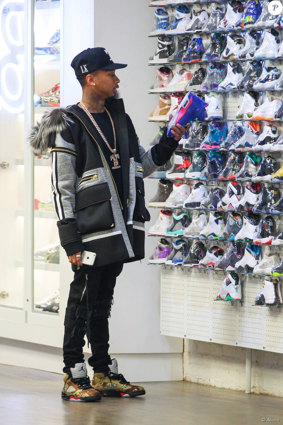 17d0198771d Tyga au magasin Nike Running Flatiron à New York