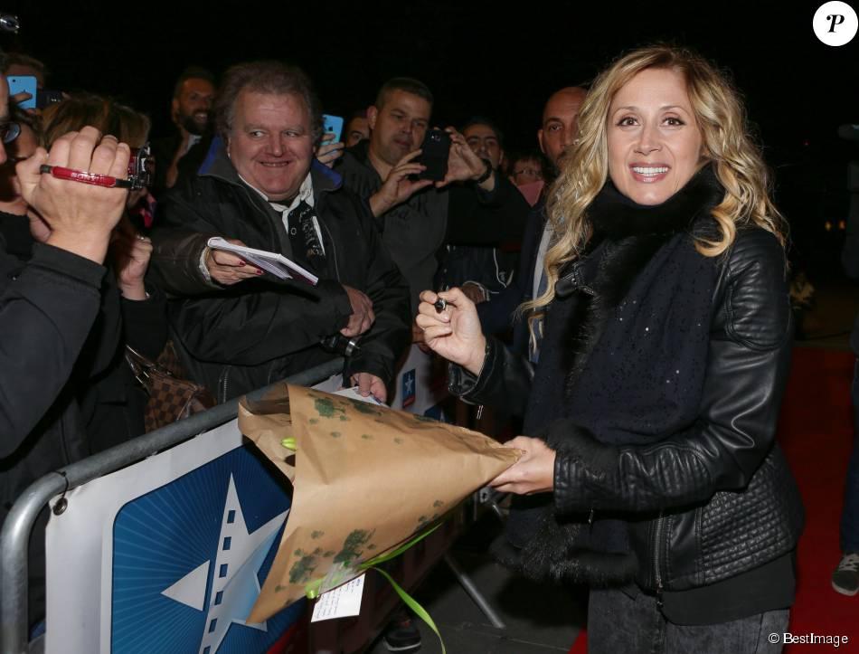 Semi-exclusif - Lara Fabian présente son concert Un soir autour du monde, au Kinepolis de Lommé, près de Lille, le 29 octobre 2015.