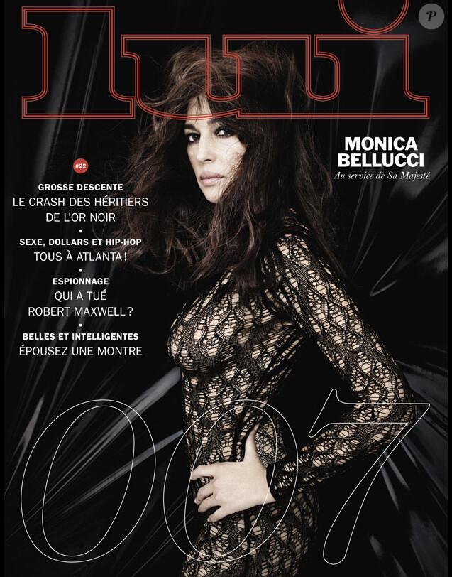 Monica Bellucci en couverture du magazine Lui, N°22.