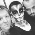 Jessie J maquillée pour Halloween et le crane chauve / photo postée sur le compte Instagram de la chanteuse.