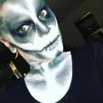 Jessie J chauve et maquillée pour Halloween / photo postée sur le compte Instagram de la chanteuse.