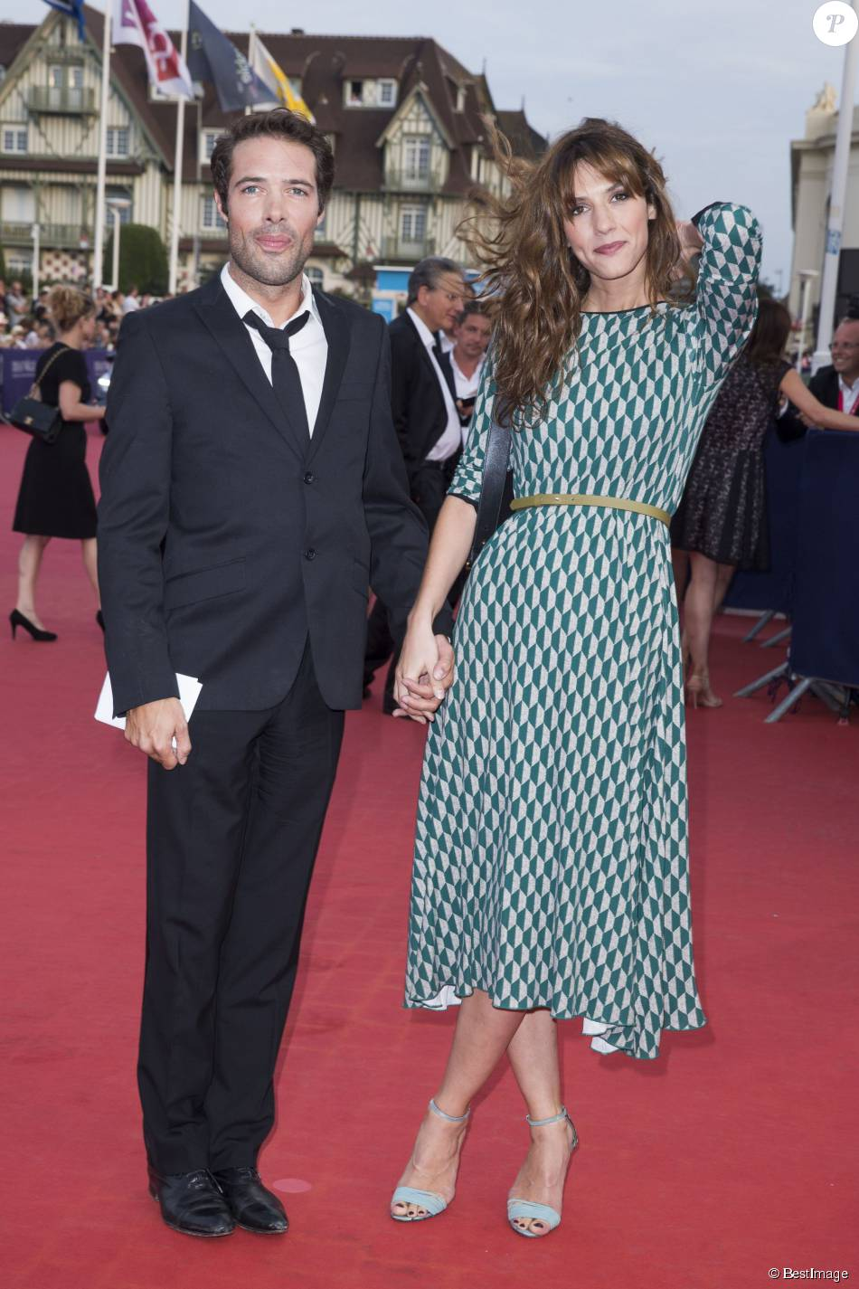"""Nicolas Bedos et Doria Tillier - Avant-première du film """"Sin City"""" lors du 40e festival du cinéma américain de Deauville, le 13 septembre 2014."""