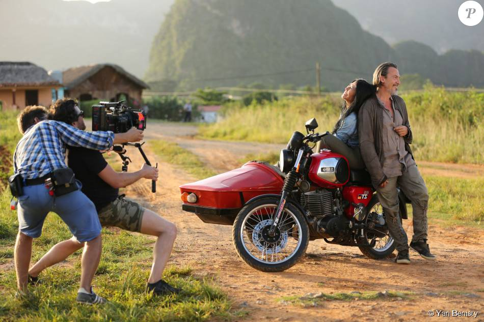 Anggun et Florent Pagny à Cuba lors du tournage du clip de leur duo Nos Vies Parallèles. Photo Yan Benisty, en exclusivité pour Purepeople.