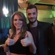 Emilie, gagnante de  Secret Story 9  et son frère Loïc, le 14 novembre 2015.