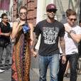 Adam Levine se promène avec sa femme Behati Prinsloo à New York le 5 septembre 2014.