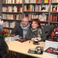 """Exclusif - Régine en dédicace pour son nouveau livre """"Mes nuits, mes rencontres"""" à la librairie Albin Michel Boulevard Saint-Germain à Paris, le 25 novembre 2015."""