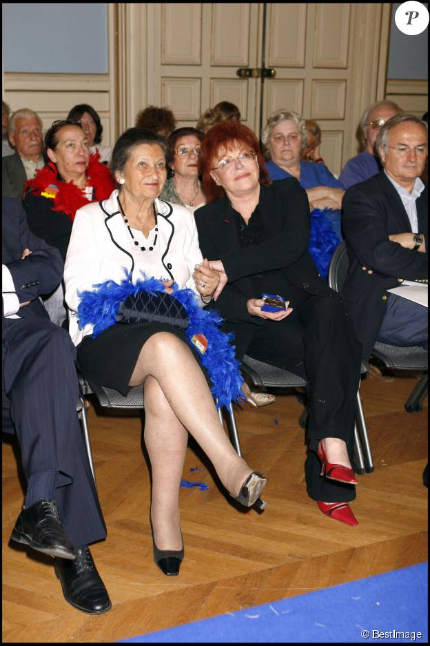 Simone Veil et Régine à Paris, le 24 juin 2007.