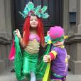 Gideon et Harper, les enfants de Neil Patrick Harris, déguisés pour Halloween, octobre 2015