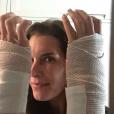Brooke Shields s'est fait opérer des deux mains pour tenter de guérir le syndrome du canal carpien qui l'a fait souffrir pendant de nombreuses années / photo postée sur Instagram, le 1er décembre 2015.