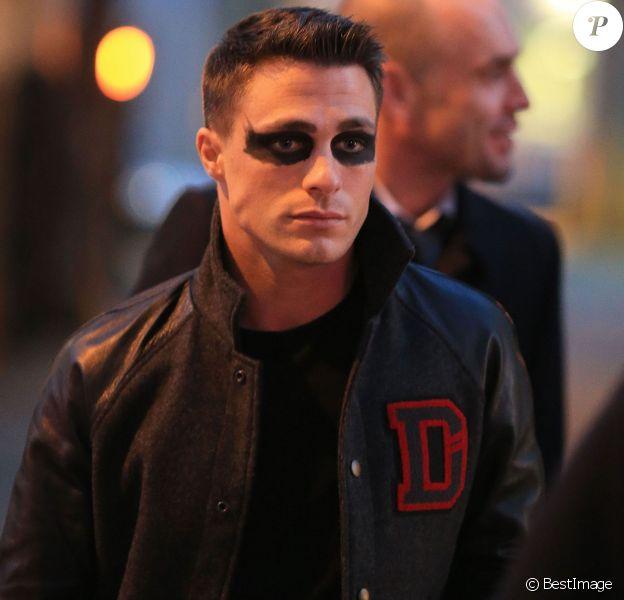 """Exclusif - Colton Haynes sur le tournage de la série """"Arrow"""" à Vancouver, le 17 février 2015"""