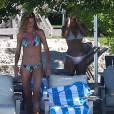 Exclusif - Gisele Bundchen passe des vacances en famille aux Bahamas. Pendant que son mari Tom Brady fait du golf avec un ami, Gisele profite de la plage avec ses enfants Benjamin et Vivian. Le 1er novembre 2015