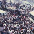 Les obsèques de Daniel Balavoine, à Biarritz, le 22 janvier 1986