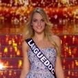 Miss Languedoc - Les 12 finalistes défilent, lors de l'élection Miss France 2016 le samedi 19 décembre 2015 sur TF1