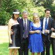 Cécilia et Richard Attias au mariage de Jeanne-Marie Martin avec Gurvan Rallon, le 10/05/08
