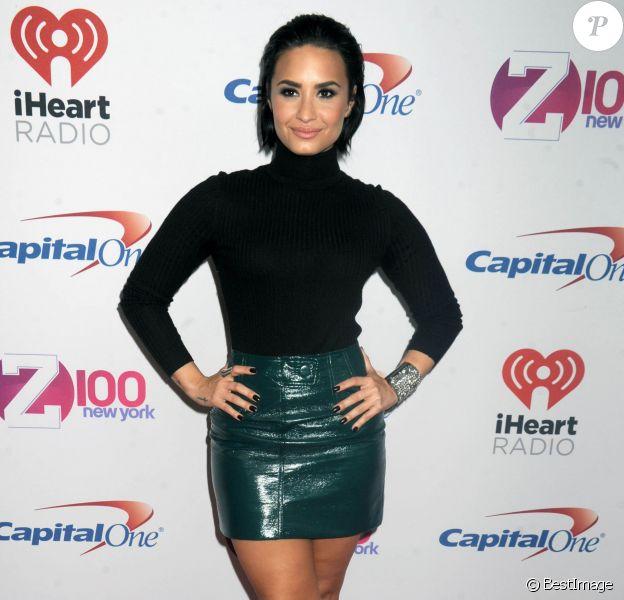 """Demi Lovato - People à la soirée """"Z100's iHeartRadio Jingle Ball 2015"""" à New York, le 12 décembre 2015."""