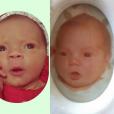 Coco Austin s'est amusée de la ressemblance entre elle et sa fille quelques semaines après sa naissance / Photo postée sur Instagram, le 17 décembre 2015.