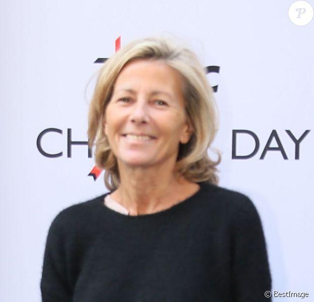 """Claire Chazal, à la 11e édition du """"BGC Charity Day"""" à Paris le 11 septembre 2015."""