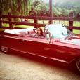 Pauline Ducruet, fan de voitures anciennes, en vacances en Australie. Photo postée sur son compte Instagram en décembre 2015.