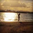 Pauline Ducruet en vacances à l'Île Maurice en début d'année 2015. Photo postée sur son compte Instagram.
