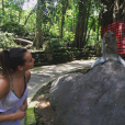 Pauline Ducruet se sociabilise avec les singes, photo Instagram de ses vacances, le 8 janvier 2016.