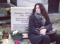 Elsa Wolinski, sur la tombe de Georges : Un émouvant hommage à son père