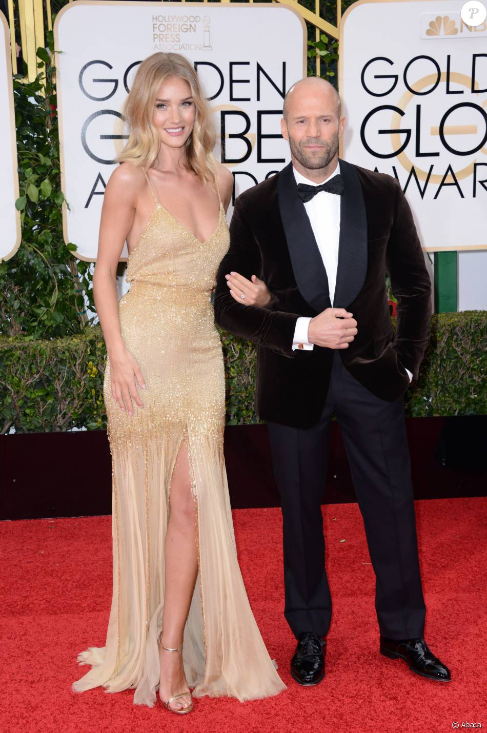 Rosie Huntington-Whiteley and Jason Statham attend the 73rd Annual Golden Globe Awards held at the Beverly Hilton Hotel in Los Angeles, CA, USA, January 10, 2016. Photo by Lionel Hahn/ABACAPRESS.COM11/01/2016 - Los Angeles