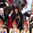 La princesse Stéphanie de Monaco, présidente de l'événement, participait le 12 janvier 2016 au lancement du 40e Festival international du cirque de Monte-Carlo, sous le chapiteau de Fontvieille, à l'avant-veille de la cérémonie d'ouverture. © Bruno Bébert / Bestimage