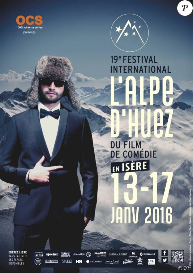 Affiche du Festival international du film de comédie de l'Alpe d'Huez 2016
