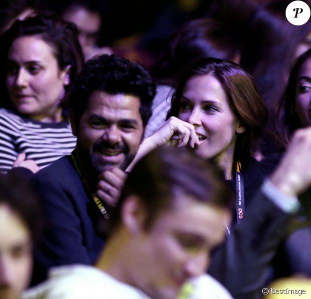 Jamel Debbouze et sa femme Mélissa Theuriau assistent à la soirée d'ouverture du 19ème Festival International du film de Comédie de l'Alpe d'Huez le 13 janvier 2016. © Dominique Jacovides/Bestimage
