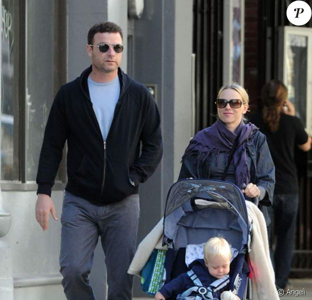 Naomi Watts, son mari Liev Schreiber et leur fils Alexander